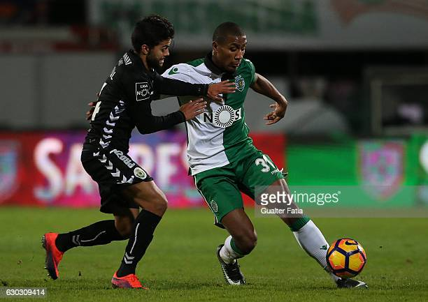 Sporting CPÕs defender Marvin Zeegelaar from Holland with Vitoria de SetubalÕs forward Joao Amaral in action during Portuguese Cup match between...