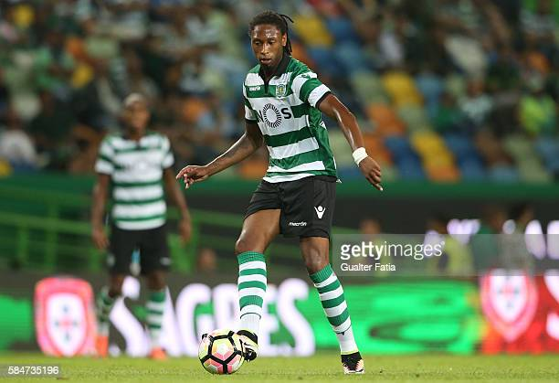 Sporting CP's defender Ruben Semedo in action during the Pre Season Friendly match between Sporting CP and Wolfsburg at Estadio Jose Alvalade on July...