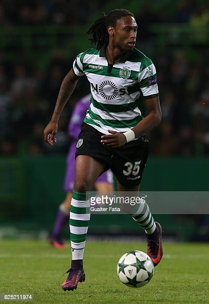 Sporting CP's defender Ruben Semedo in action during the UEFA Champions League match between Sporting Clube de Portugal and Real Madrid CF at Estadio...