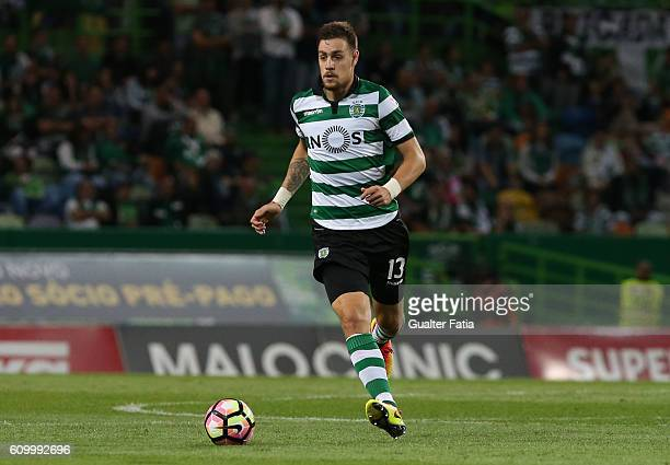 Sporting CP's defender Sebastian Coates from Uruguay in action during the Primeira Liga match between Sporting CP and Estoril Praia at Estadio Jose...