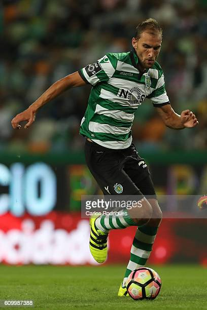 Sporting CP's forward Bas Dost from Holand in action during the Primeira Liga match between Sporting CP and Estoril Praia at Estadio Jose Alvalade on...