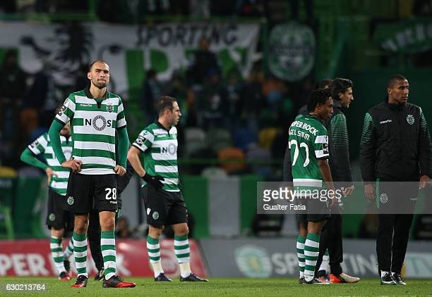 Sporting CP's forward Bas Dost from Holland reaction at the end of the Primeira Liga match between Sporting CP and SC Braga at Estadio Jose Alvalade...