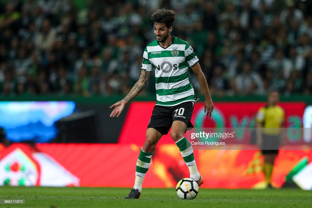 Sporting CPÕs forward Bryan Ruiz from Costa Rica during the Portuguese Primeira Liga match between Sporting CP and SL Benfica at Estadio Jose Alvalade on May 05, 2018 in Lisbon, Lisboa.