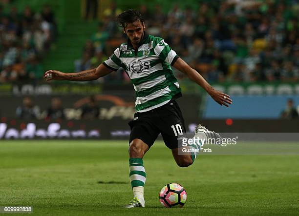 Sporting CP's forward Bryan Ruiz from Costa Rica in action during the Primeira Liga match between Sporting CP and Estoril Praia at Estadio Jose...