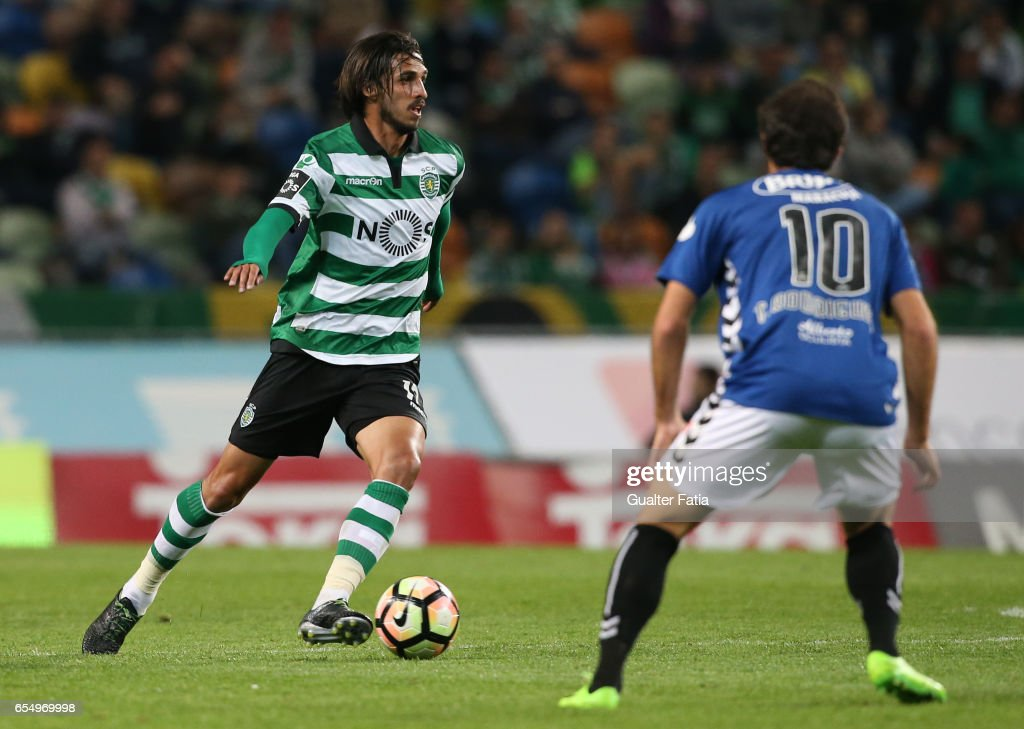 Sporting CP's forward Bryan Ruiz from Costa Rica in action during the Primeira Liga match between Sporting CP and CD Nacional at Estadio Jose Alvalade on March 18, 2017 in Lisbon, Portugal.