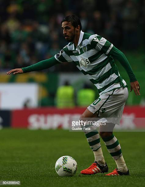Sporting CP's forward Bryan Ruiz in action during the Primeira Liga match between Sporting CP and SC Braga at Estadio Jose Alvalade on January 10...