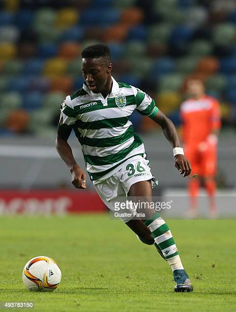 Sporting CP's forward Carlos Mane in action during the UEFA Europa League match between Sporting CP and KF Skenderbeu at Estadio Jose de Alvalade on...