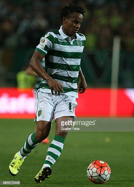 Sporting CP's forward Carrillo in action during the Portuguese Super Cup match between SL Benfica and Sporting CP at Estadio Algarve on August 9 2015...
