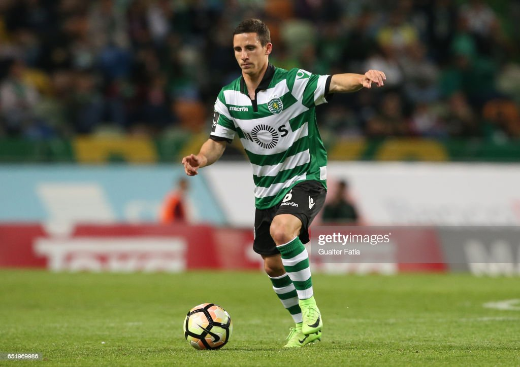 Sporting CP's forward Daniel Pondence from Portugal in action during the Primeira Liga match between Sporting CP and CD Nacional at Estadio Jose Alvalade on March 18, 2017 in Lisbon, Portugal.