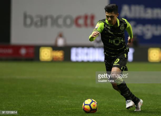 Sporting CP's forward Fredy Montero from Colombia in action during the Portuguese League Cup Final match between Vitoria de Setubal and Sporting CP...
