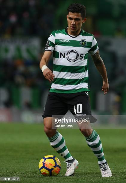 Sporting CP's forward Fredy Montero from Colombia in action during the Primeira Liga match between Sporting CP and Vitoria Guimaraes at Estadio Jose...