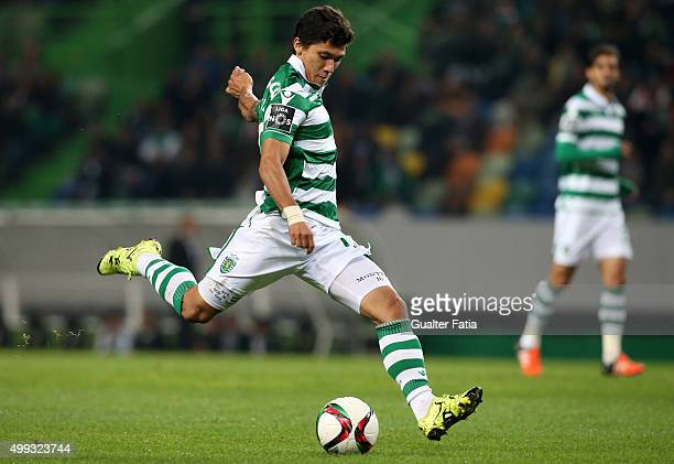 Sporting CP's forward Fredy Montero in action during the Primeira Liga match between Sporting CP and Os Belenenses at Estadio Jose Alvalade on...