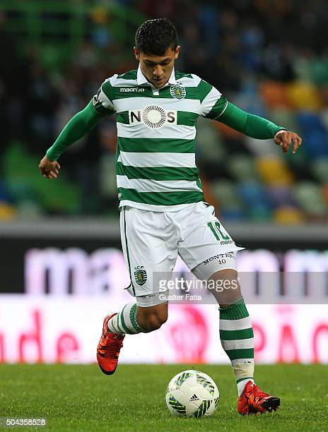 Sporting CP's forward Fredy Montero in action during the Primeira Liga match between Sporting CP and SC Braga at Estadio Jose Alvalade on January 10...