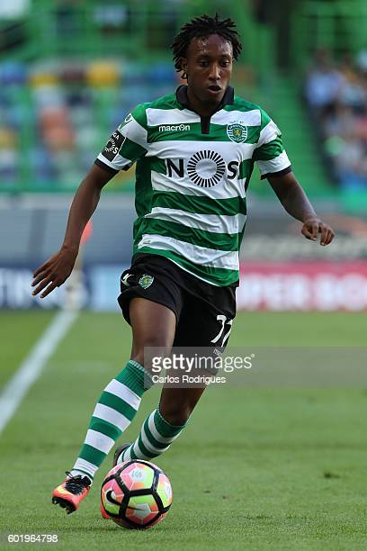 Sporting CP's forward Gelson Martins from Portugal during the Portuguese Primeira Liga between Sporting CP and Moreirense FC at Estadio Jose Alvalade...
