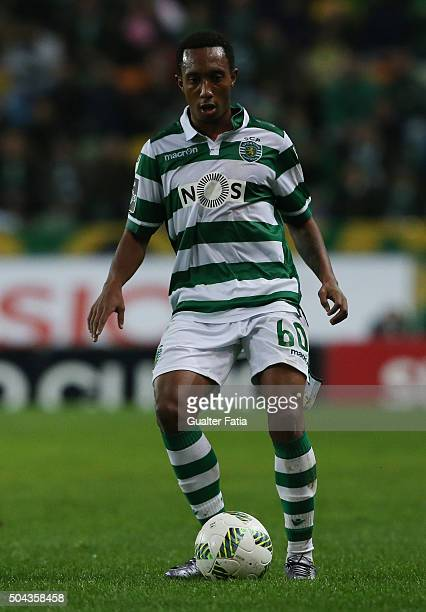 Sporting CP's forward Gelson Martins in action during the Primeira Liga match between Sporting CP and SC Braga at Estadio Jose Alvalade on January 10...