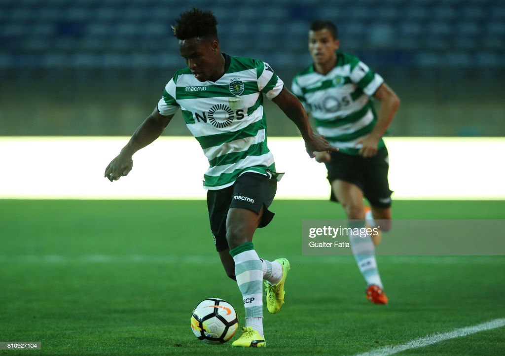 Sporting CPÕs forward Jovane Cabral in action during the Pre-Season Friendly match between Sporting CP and CF Os Belenenses at Estadio Algarve on July 7, 2017 in Faro, Portugal.