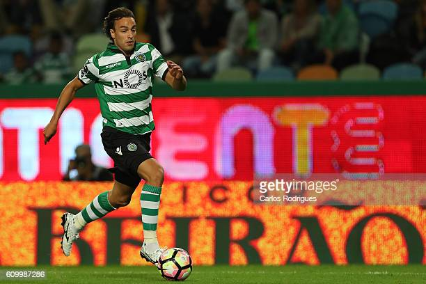Sporting CP's forward Lazar Markovic from Serbia in action during the Primeira Liga match between Sporting CP and Estoril Praia at Estadio Jose...
