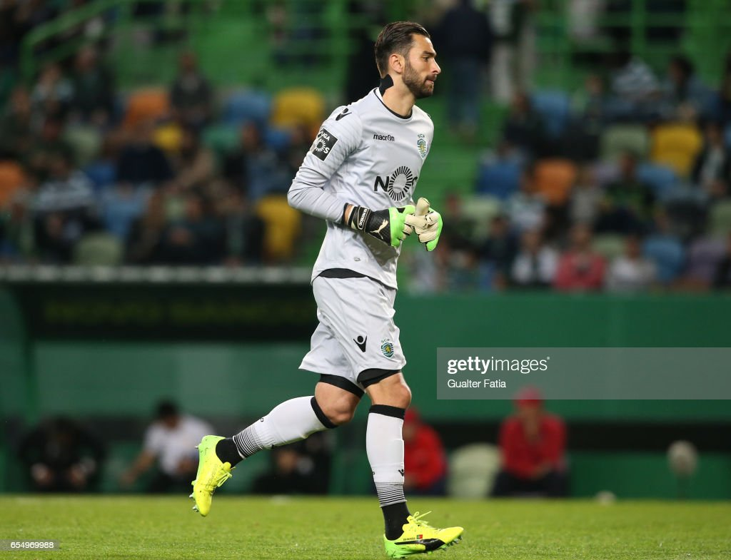 Sporting CP's goalkeeper Rui Patricio from Portugal in action during the Primeira Liga match between Sporting CP and CD Nacional at Estadio Jose Alvalade on March 18, 2017 in Lisbon, Portugal.
