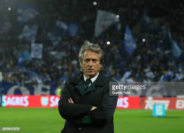 Sporting CPÕs head coach Jorge Jesus from Portugal before the start of the Primeira Liga match between FC Porto and Sporting CP at Estadio do Dragao...