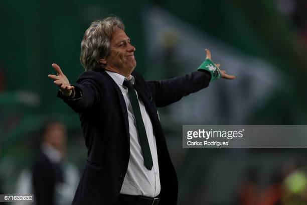 Sporting CP's head coach Jorge Jesus from Portugal during the Sporting CP v SL Benfica Portuguese Primeira Liga match at Estadio Jose Alvalade on...