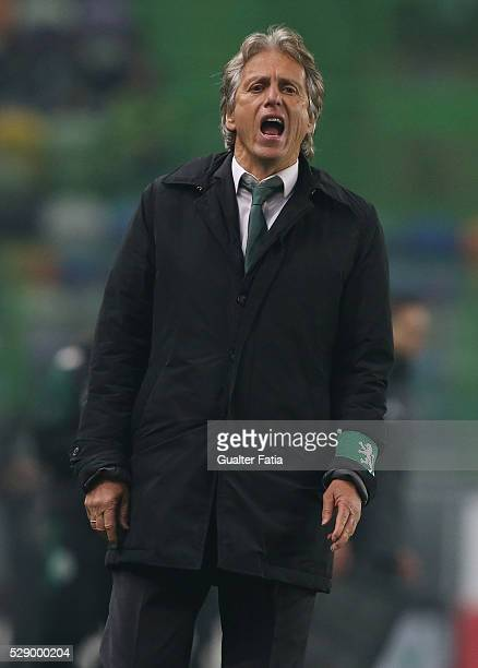 Sporting CP's head coach Jorge Jesus in action during the Primeira Liga match between Sporting CP and Vitoria Setubal at Estadio Jose Alvalade on May...