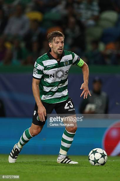 Sporting CP's midfielder Adrien Silva from Portugal during the Sporting Clube de Portugal v Legia Warszawa UEFA Champions League round two match at...