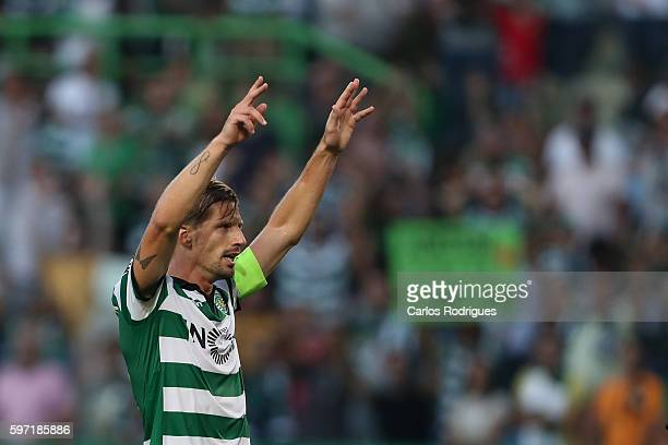 Sporting CP's midfielder Adrien Silva from Portugal during the Portuguese Primeira Liga between Sporting CP and FC Porto at Estadio Jose Alvalade on...