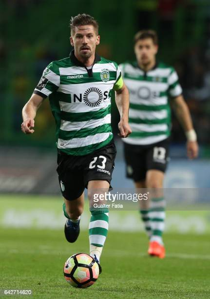 Sporting CPÕs midfielder Adrien Silva from Portugal in action during the Primeira Liga match between Sporting CP and Rio Ave FC at Estadio Jose...