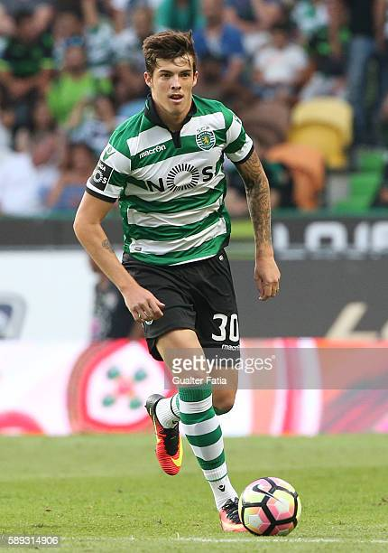 Sporting CPÕs midfielder Bruno Paulista from Brazil in action during the Primeira Liga match between Sporting CP and CS Maritimo at Estadio Jose...