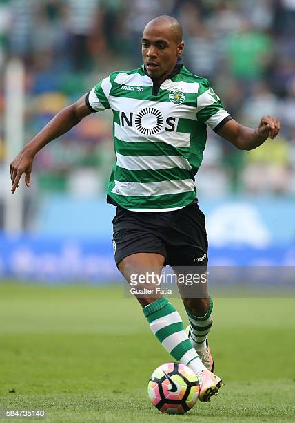 Sporting CP's midfielder Joao Mario in action during the Pre Season Friendly match between Sporting CP and Wolfsburg at Estadio Jose Alvalade on July...