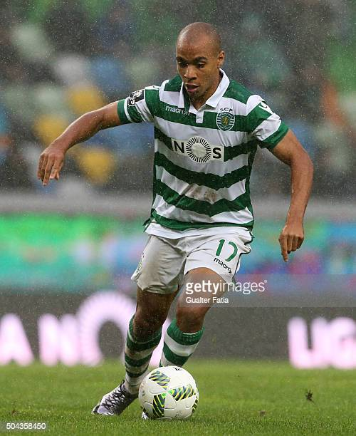Sporting CP's midfielder Joao Mario in action during the Primeira Liga match between Sporting CP and SC Braga at Estadio Jose Alvalade on January 10...