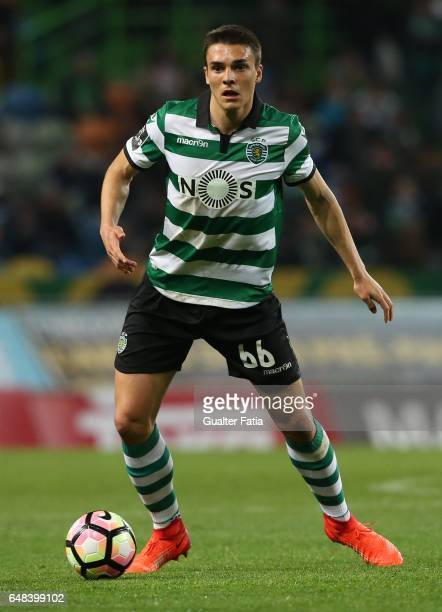 Sporting CP's midfielder Joao Palhinha from Portugal in action during the Primeira Liga match between Sporting CP and Vitoria Guimaraes at Estadio...