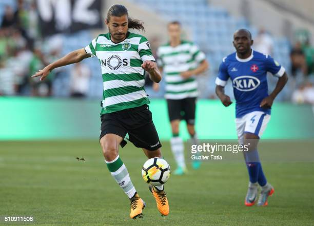 Sporting CPÕs midfielder Matheus Oliveira from Brazil in action during the PreSeason Friendly match between Sporting CP and CF Os Belenenses at...