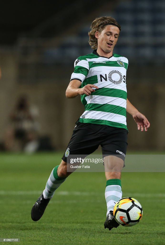 Sporting CPÕs midfielder Ryan Gauld from Scotland in action during the Pre-Season Friendly match between Sporting CP and CF Os Belenenses at Estadio Algarve on July 7, 2017 in Faro, Portugal.