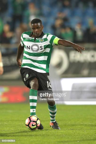 Sporting CP's midfielder William Carvalho from Portugal during the match between Estoril Praia SAD and Sporting CP for the Portuguese Primeira Liga...