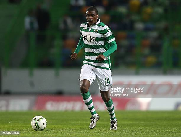 Sporting CPÕs midfielder William Carvalho in action during the Primeira Liga match between Sporting CP and Rio Ave FC at Estadio Jose Alvalade on...