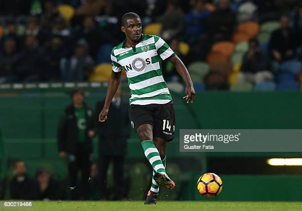 Sporting CP's midfielder William Carvalho in action during the Primeira Liga match between Sporting CP and SC Braga at Estadio Jose Alvalade on...