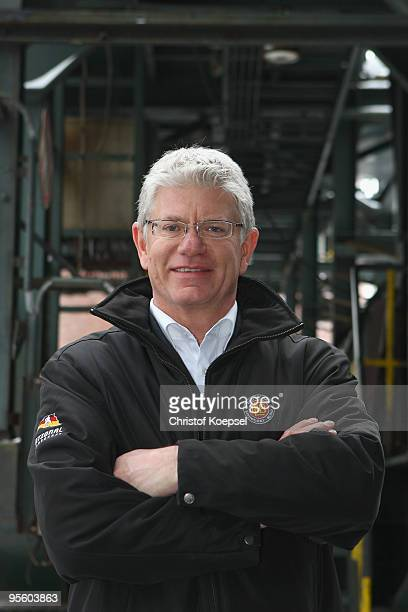 Sporting director Franz Reindl of the German ice hockey association poses during a presentation day due to the IIHW World Championships at the...
