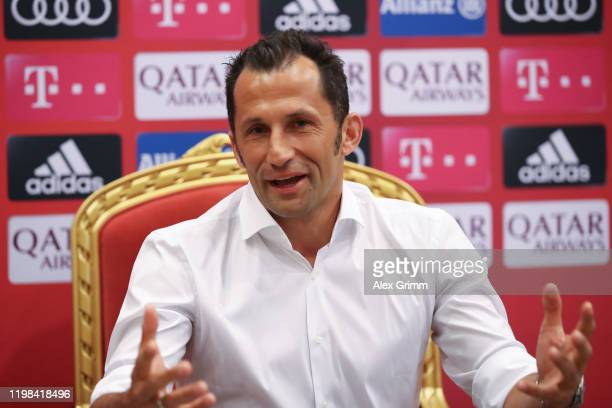 Sporting director Hasan Salihamidzic attends a press conference during a training session on day six of the FC Bayern Muenchen winter training camp...