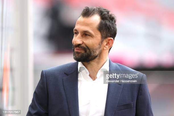 Sporting director Hasan Salihamidzic looks on prior to the Bundesliga match between FC Bayern Muenchen and Borussia Moenchengladbach at Allianz Arena...