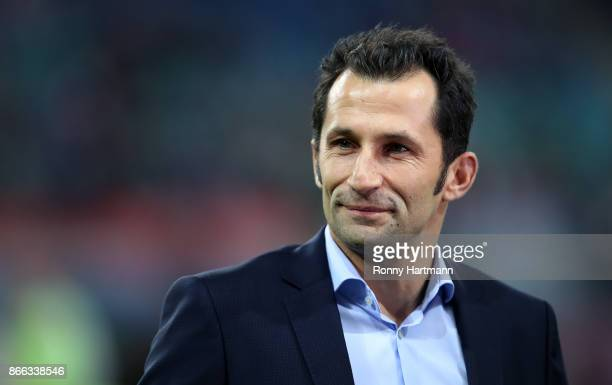 Sporting director Hasan Salihamidzic looks on prior to the DFB Cup match between RB Leipzig and Bayern Muenchen at Red Bull Arena on October 25 2017...