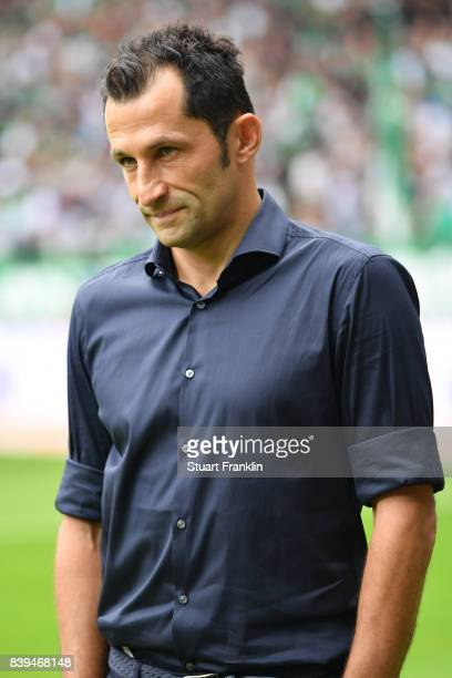 Sporting director Hasan Salihamidzic of Bayern Muenchen ahead of the Bundesliga match between SV Werder Bremen and FC Bayern Muenchen at Weserstadion...