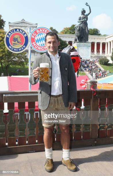 Sporting director Hasan Salihamidzic of FC Bayern Muenchen attends the Oktoberfest beer festival at Kaefer Wiesenschaenke tent at Theresienwiese on...