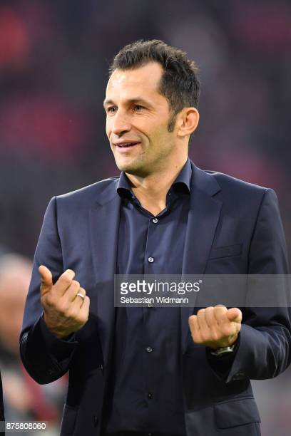 Sporting director Hasan Salihamidzic of FC Bayern Muenchen gestures prior to the Bundesliga match between FC Bayern Muenchen and FC Augsburg at...