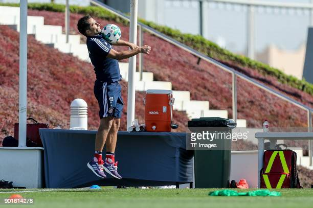 Sporting director Hasan Salihamidzic of Muenchen controls the ball during the FC Bayern Muenchen training camp at Aspire Academy on January 04 2018...