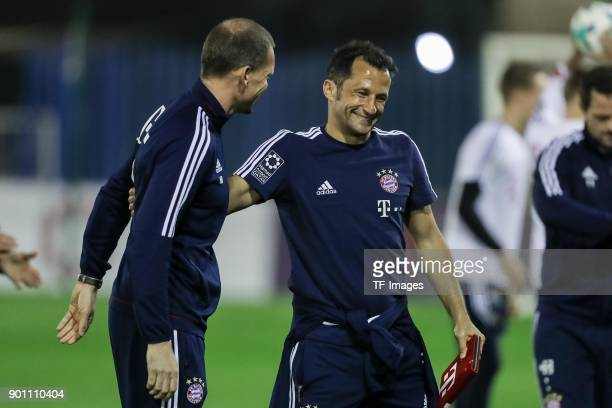 Sporting director Hasan Salihamidzic of Muenchen gestures during the FC Bayern Muenchen training camp at Aspire Academy on January 02 2018 in Doha...