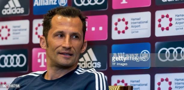 Sporting director Hasan Salihamidzic of Muenchen gives an interview during the FC Bayern Muenchen training camp at Aspire Academy on January 03 2018...
