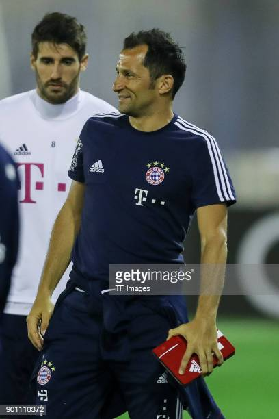 Sporting director Hasan Salihamidzic of Muenchen looks on during the FC Bayern Muenchen training camp at Aspire Academy on January 02 2018 in Doha...