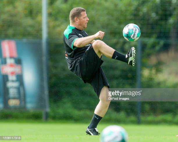 Sporting director Max Eberl of Borussia Moenchengladbach controls the ball during day 4 of the preseason summer training camp of Borussia...