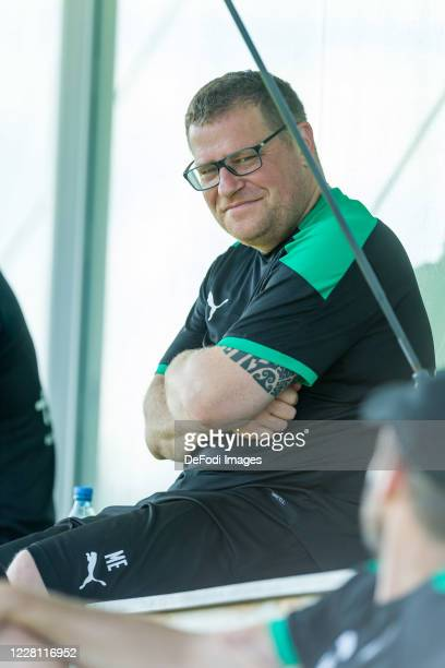 Sporting director Max Eberl of Borussia Moenchengladbach looks on during day 3 of the preseason summer training camp of Borussia Moenchengladbach on...